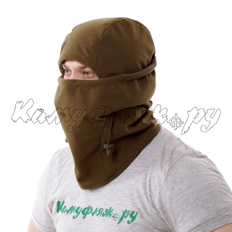 Балаклава-маска KE Active мембрана на флисе олива, Маски - арт. 992030192