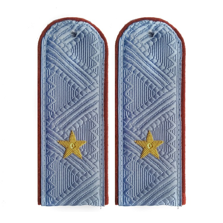 Погоны УИС (ФСИН) генерал-майор на серую рубашку повседневные