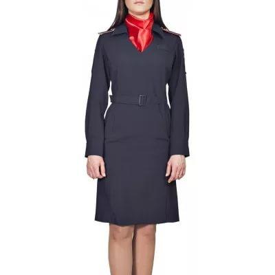 Платье Полиция с длинным рукавом поливискоза, Юбки и платья - арт. 882230153