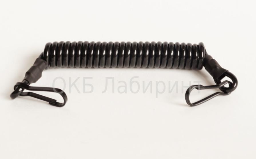 Купить Шнур страховочный 2 карабина черный, ОКБ Лабиринт
