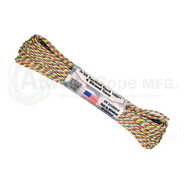 Паракорд ATWOODROPE 3/32' x 100' TACTICAL 30м light stripes
