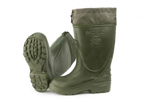 Купить Сапоги ЭВА мужские зимние NORD (STEP) -45 (-55С), с 4-слойным чулком и манжетой, оливковые., Ursus