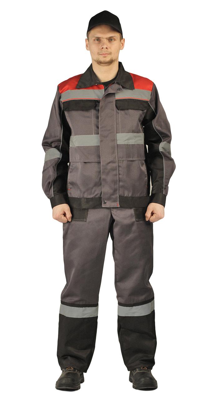 253ffa384cbe Костюм РЕСПЕКТ куртка/полукомбинезон, серый/черный, Рабочие костюмы - арт.  1177350257