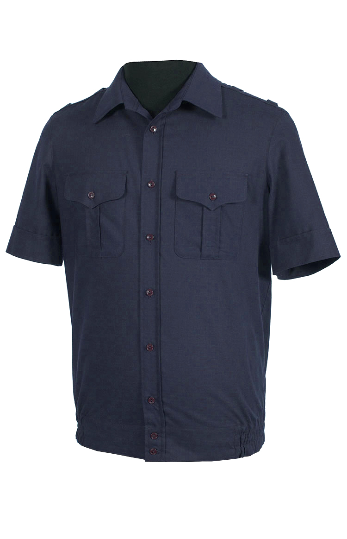 Купить Рубашка МО короткий рукав(ткань рип-стоп/вискоза, цвет синий), Патруль