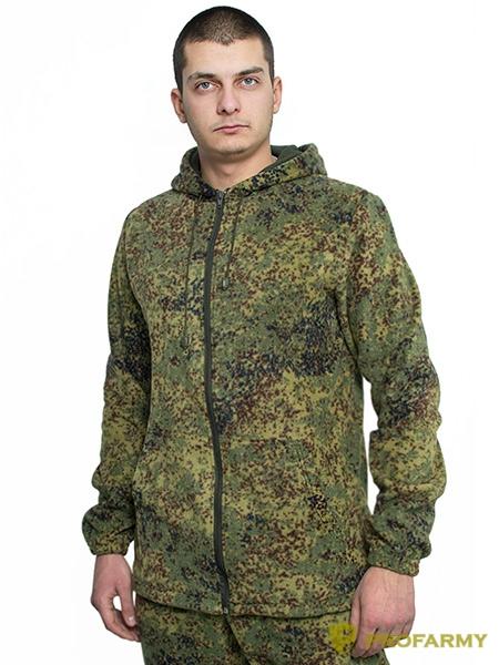 Куртка флисовая TERRA пиксель, Толстовки - арт. 1065080187