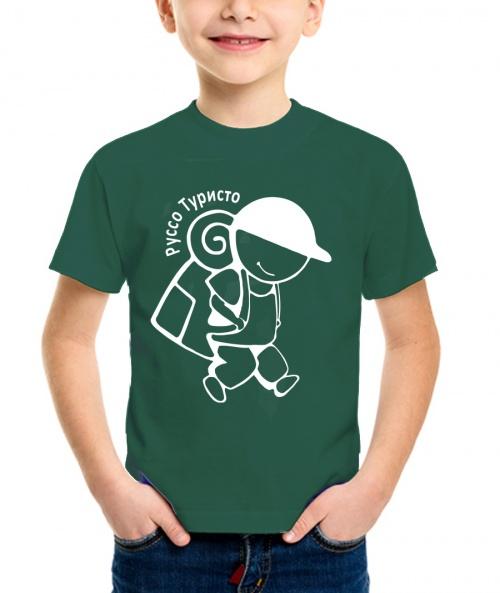 Купить Футболка детская Руссо Туристо цвет темно-зеленый, Ursus