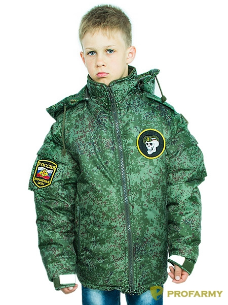 Куртка зимняя детская Воин DPO-18 оксфорд пиксель, Зимние куртки - арт. 1112130333
