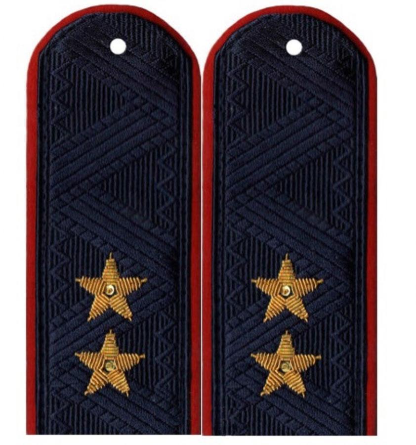 Погоны Полиция генерал-лейтенант с хлястиком повседневные