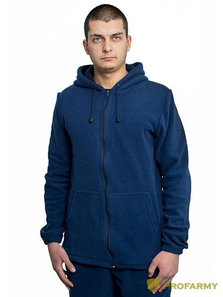 Куртка флисовая TERRA синяя, Толстовки - арт. 1065090187