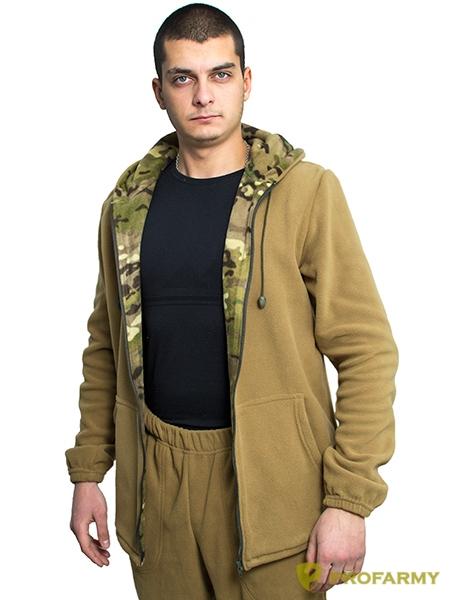 Куртка флисовая TERRA coyote, Толстовки - арт. 1065040187