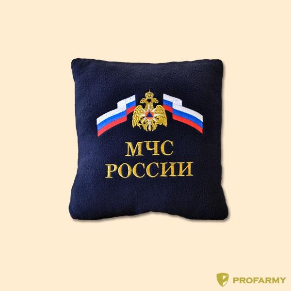 Подушка сувенирная с вышивкой МЧС, Постельные принадлежности - арт. 908170397