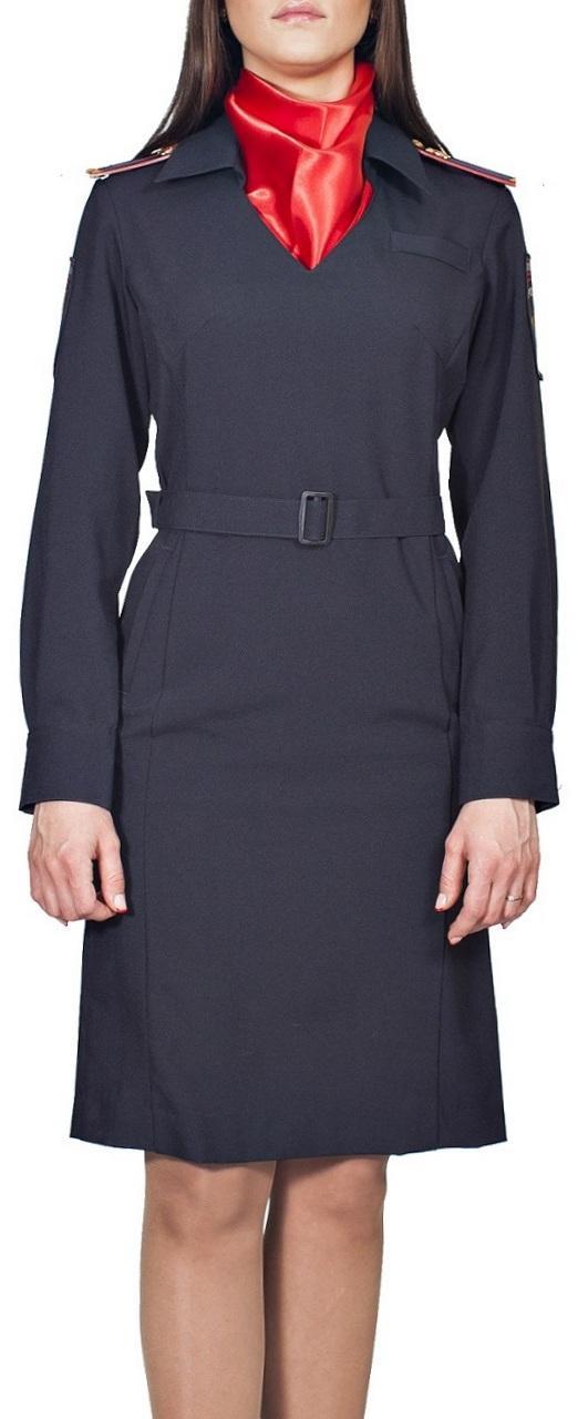 Платье Полиция, длинный рукав, полушерсть, Юбки и платья - арт. 1019450153