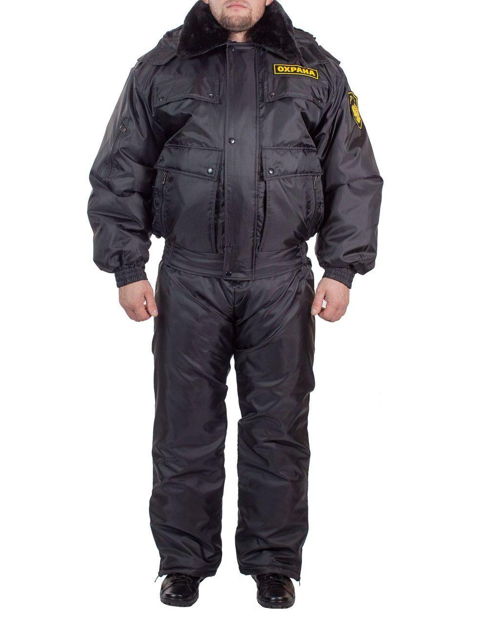 Зимняя форма охранника фото