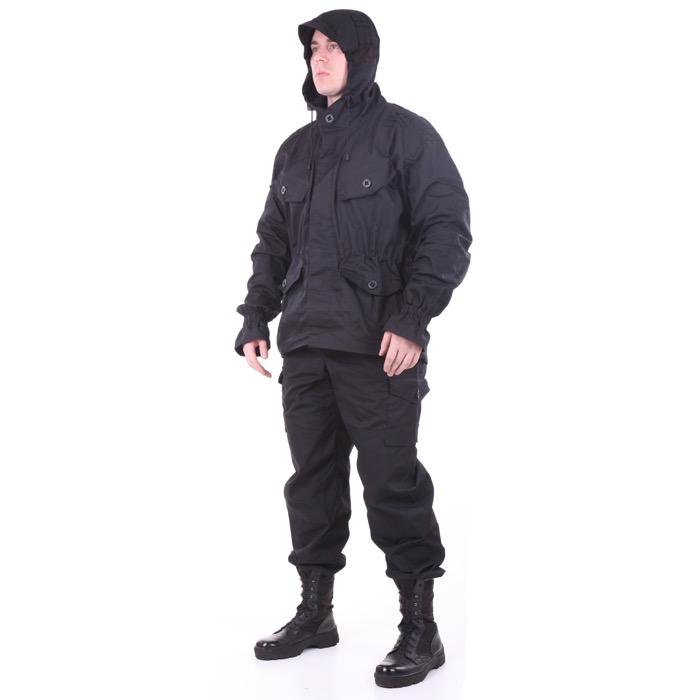 Костюм Снайпер-2 рип-стоп с налокотниками и наколенниками черный, Тактические костюмы - арт. 983380259