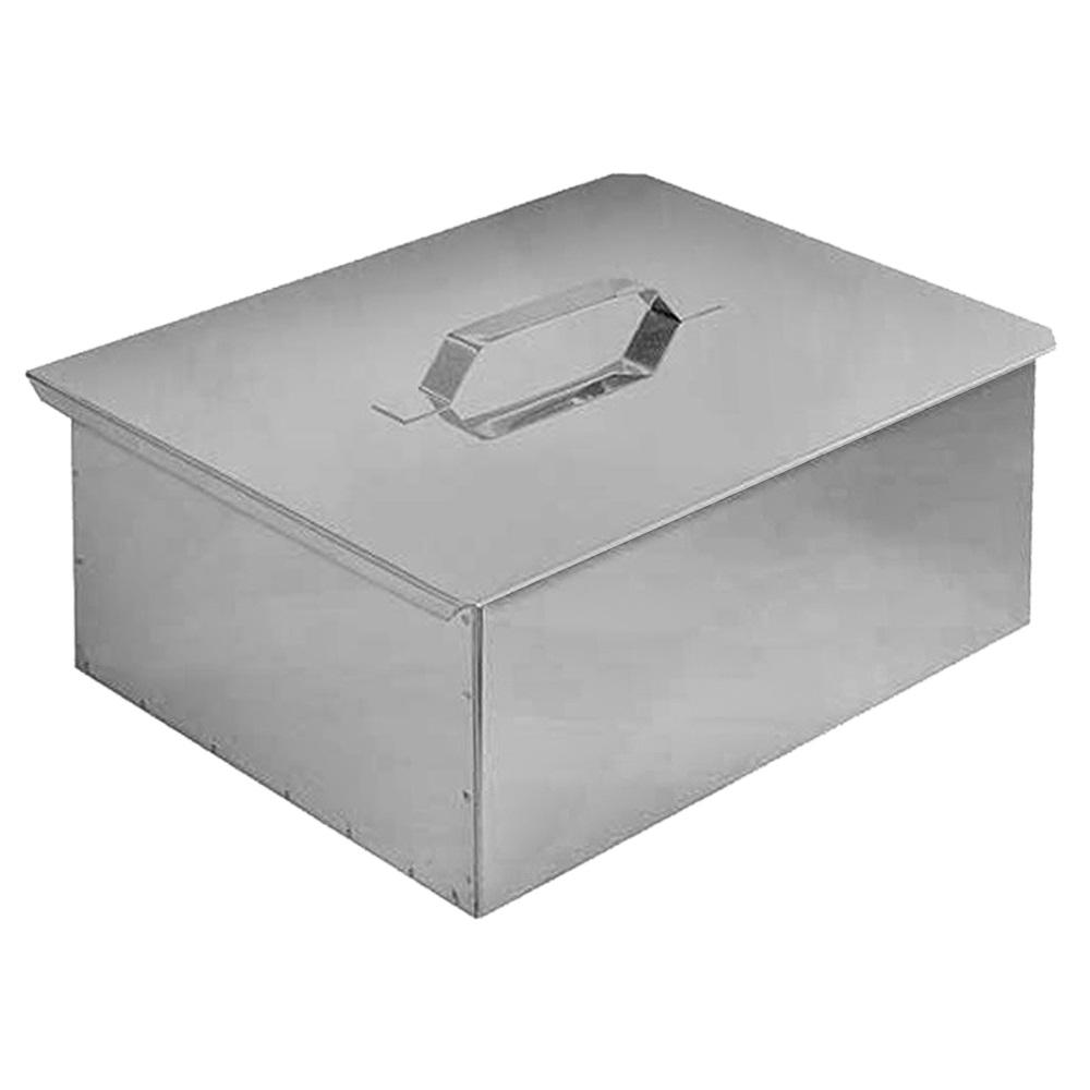 Коптильня двухъярусная с поддоном для сбора жира (480х280х170)(нержавеющая сталь 0,8 мм.) Технолит 10-01-0020, Гриль - арт. 1038950228
