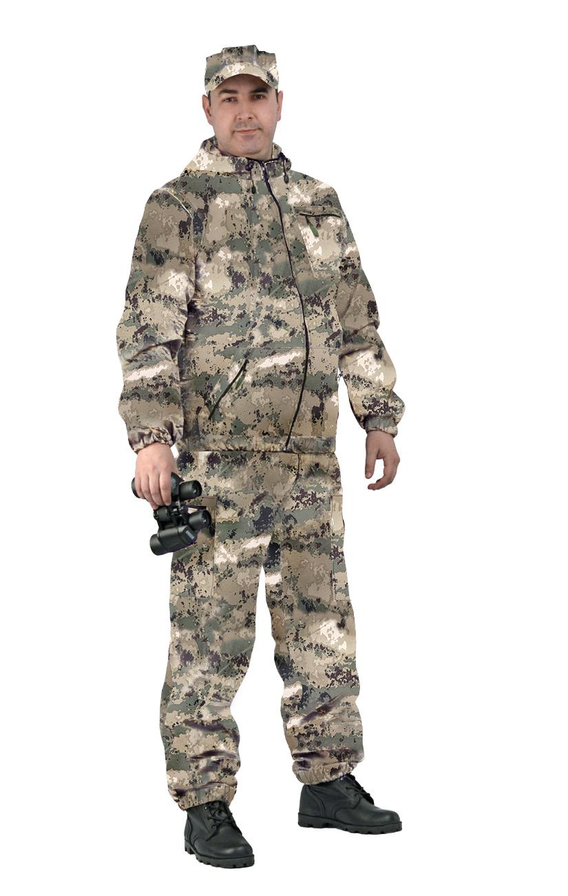 Костюм мужской Турист 1 летний, камуфляж, ткань грета МОХ, Летние костюмы - арт. 1032710260