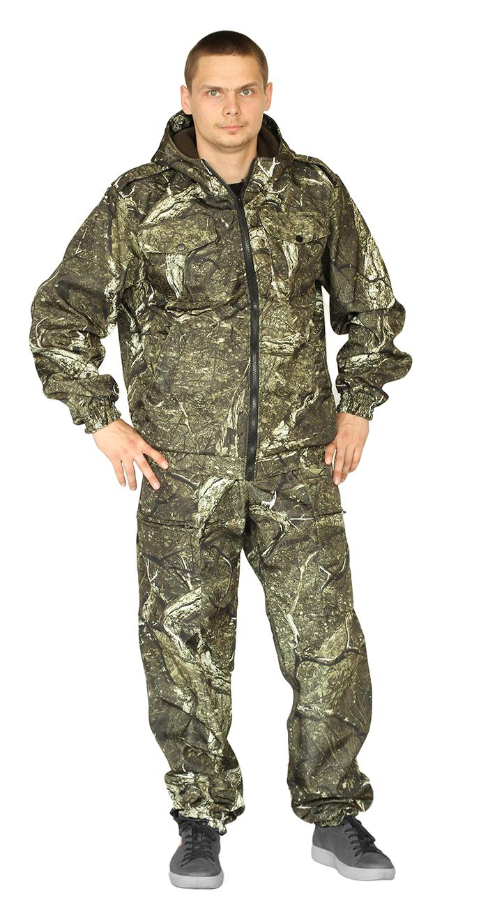 Костюм КАСКАД куртка/брюки, камуфляж скалолаз, ткань : Полофлис, Костюмы для рыбалки - арт. 1141650400