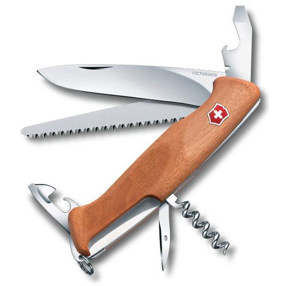 Нож перочинный Victorinox RangerWood 55 (0.9561.63) 130 мм 10 функций дерево, Ножи - арт. 973590159