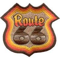 Термонаклейка -0387 Route 66 вышивка