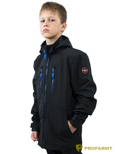 Куртка детская Softshell TURBO черная, Куртки из Softshell и Windbloc - арт. 1065030329