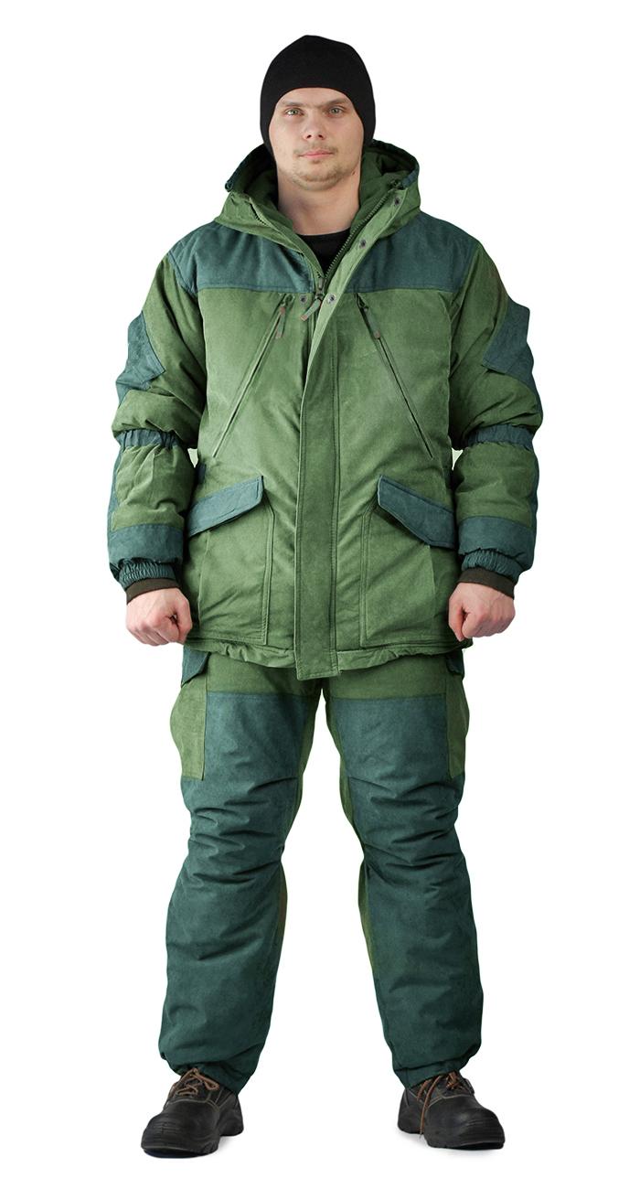 Костюм зимний ГРАСК куртка/полукомбинезон цвет: светлый хаки/темный хаки, ткань : Таслан, Зимние костюмы - арт. 1136140258
