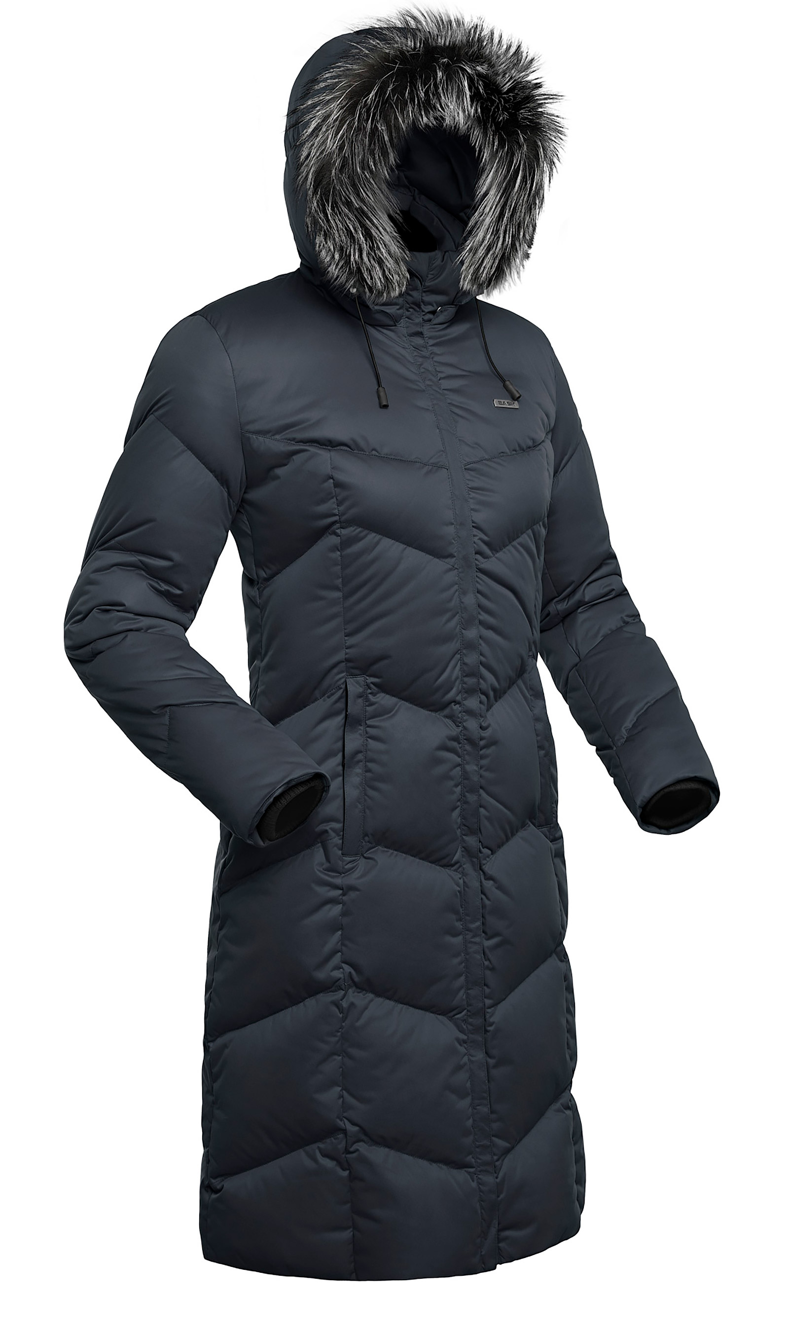 Пальто пуховое женское BASK SNOWFLAKE черное, Пальто - арт. 494740409