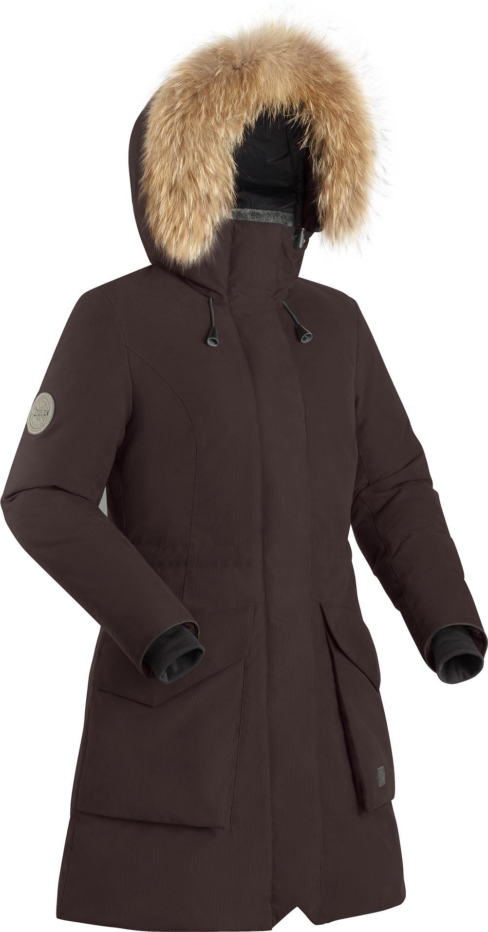 Купить Пальто пуховое женское BASK VISHERA темно-бордовое, Компания БАСК