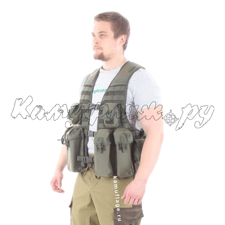 Жилет KE Скорпион с патрульными подсумками олива темная, Тактические рюкзаки - арт. 986080264