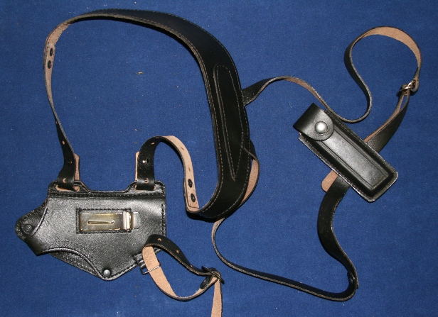Кобура для ПМ оперативная со скобой КО-8 (кожаная, с запасной обоймой)