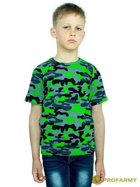 Купить Футболка детская Green Camo короткий рукав, PROFARMY