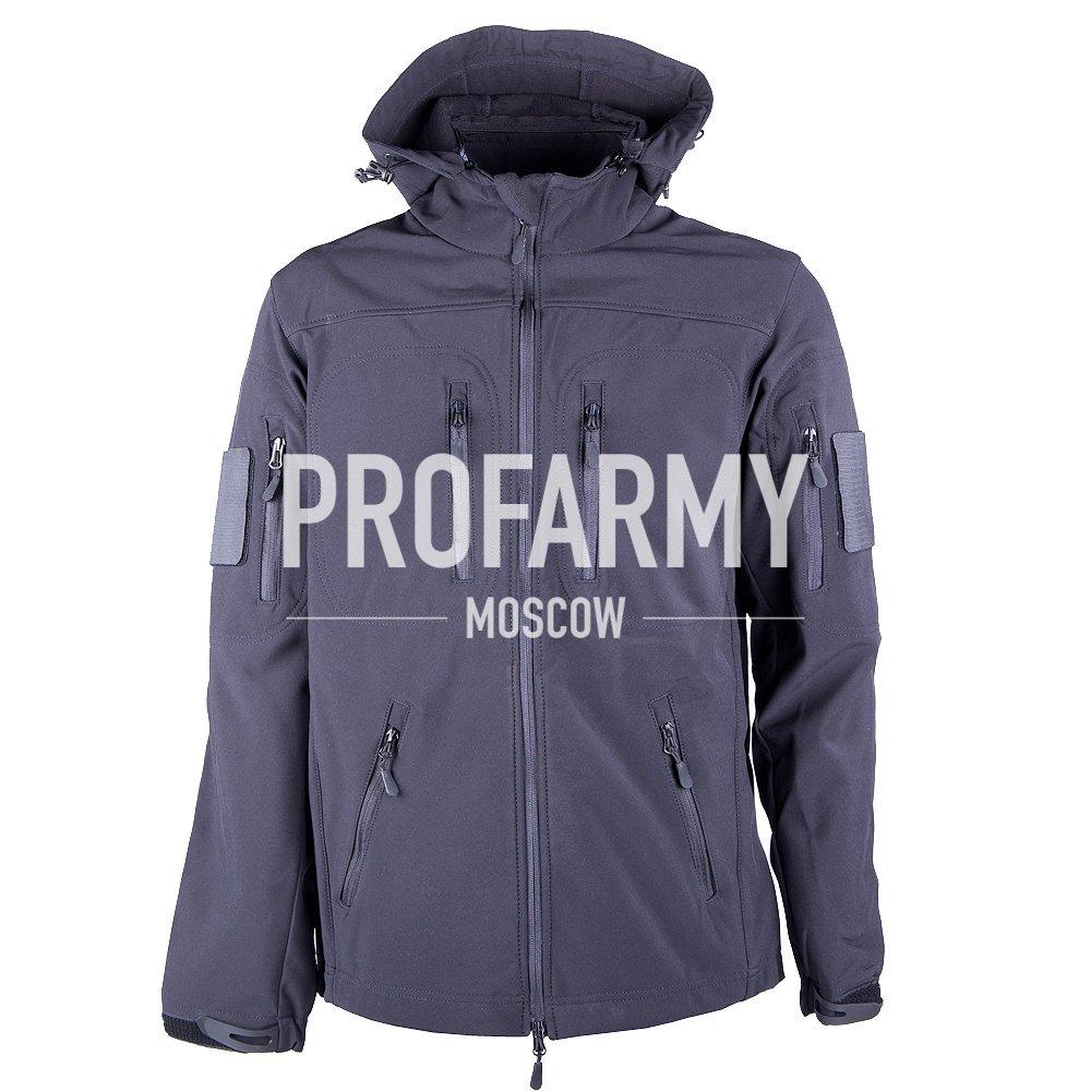 Куртка МПА-26-01 Softshell (черный), Куртки из Softshell и Windbloc - арт. 865500329