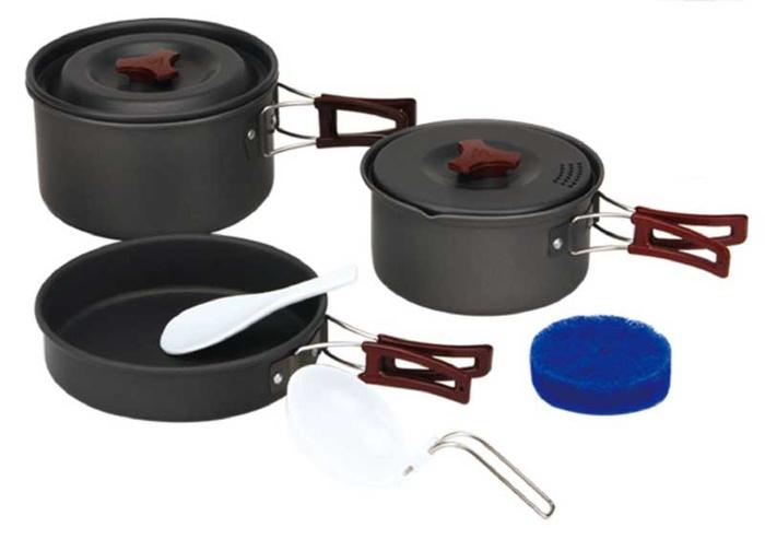 Купить Набор портативной посуды FMC-202, на 2-3 человек из анодированного алюминия, Fire-Maple