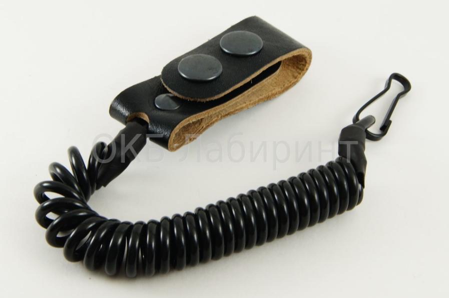 Купить Шнур страховочный 1 карабиншлевка универсальная черный, ЗАО СПТС