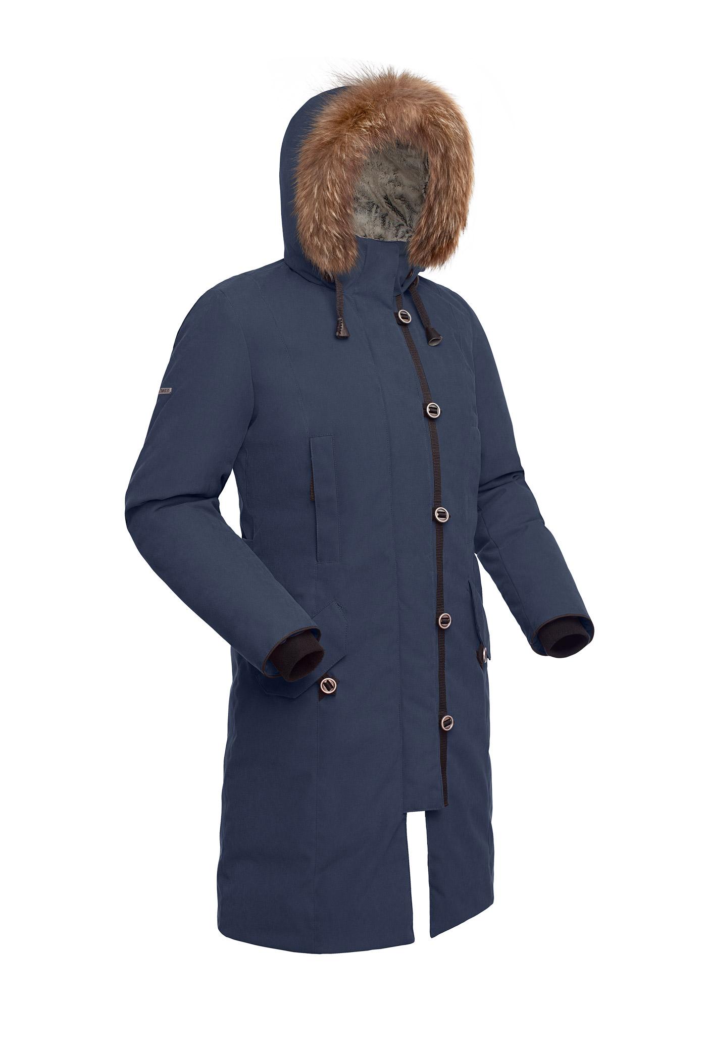 Пальто пуховое женское BASK HATANGA V2 темно-синее, Пальто - арт. 999840409