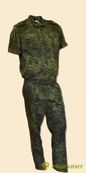 Костюм В-2, короткий рукав, на молнии (Пиксель)
