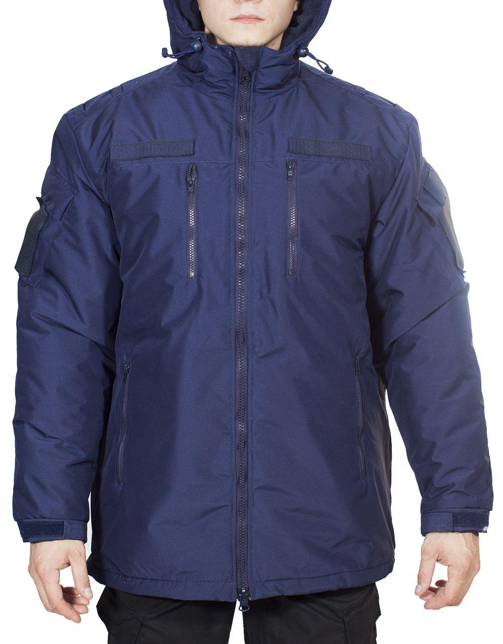 Куртка зимняя МПА-39 (МО-2) (ткань рип-стоп мембрана) синяя