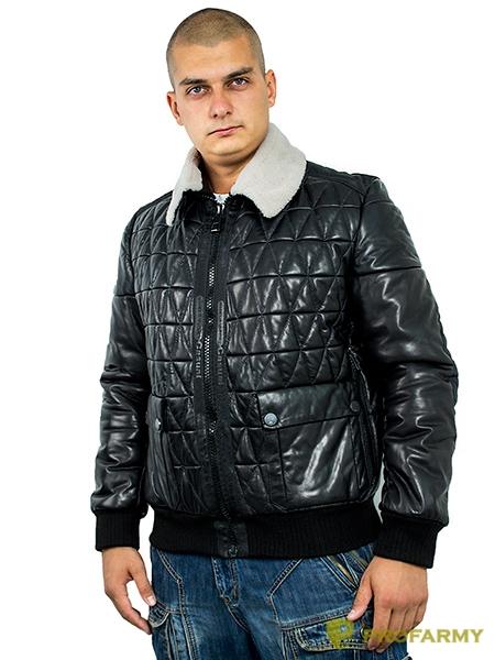 Куртка кожаная МК/17-5К Lagivert Vegital+Vitelino Black, Демисезонные куртки - арт. 1052880334