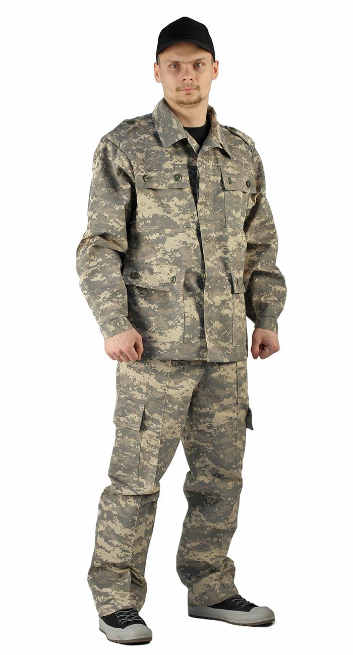 Купить Костюм ЗАХВАТ куртка/брюки, камуфляж: цифра светло-серый, ткань : грета, Ursus