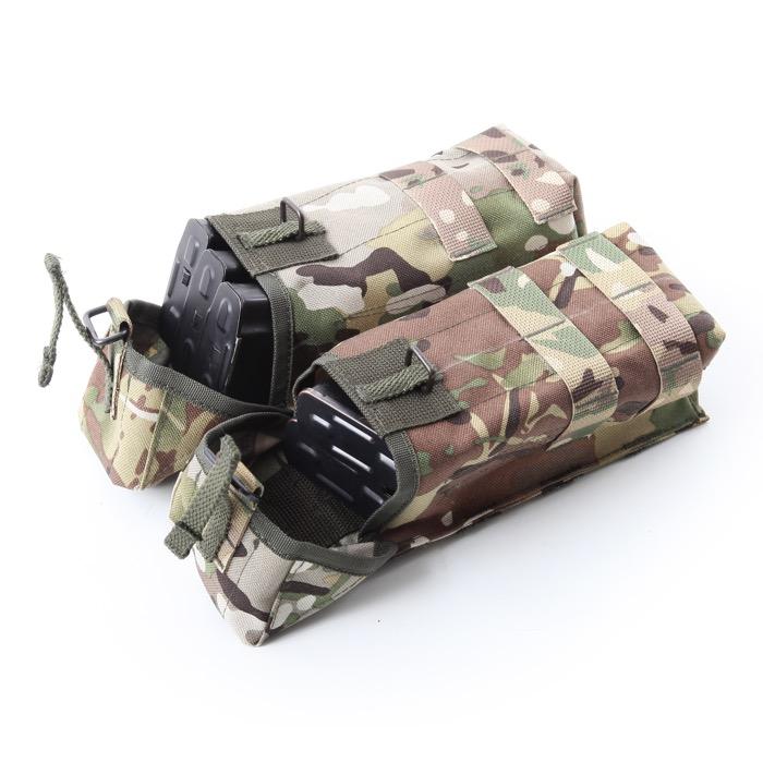 Подсумок KE под АК патрульный двойной с бесшумной застежкой со стропами multicam, Прочее - арт. 987490199