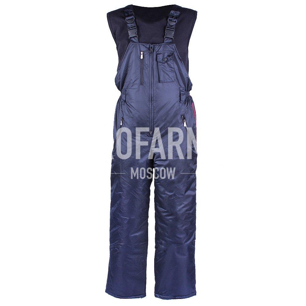 Полукомбинезон Полиция зимний (иссиня-черный), Зимние брюки и полукомбинезоны - арт. 865890348