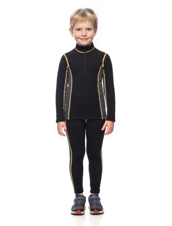 Купить Комплект детского термобелья BASK kids T-SKIN SUIT черный/серый тмн, Компания БАСК