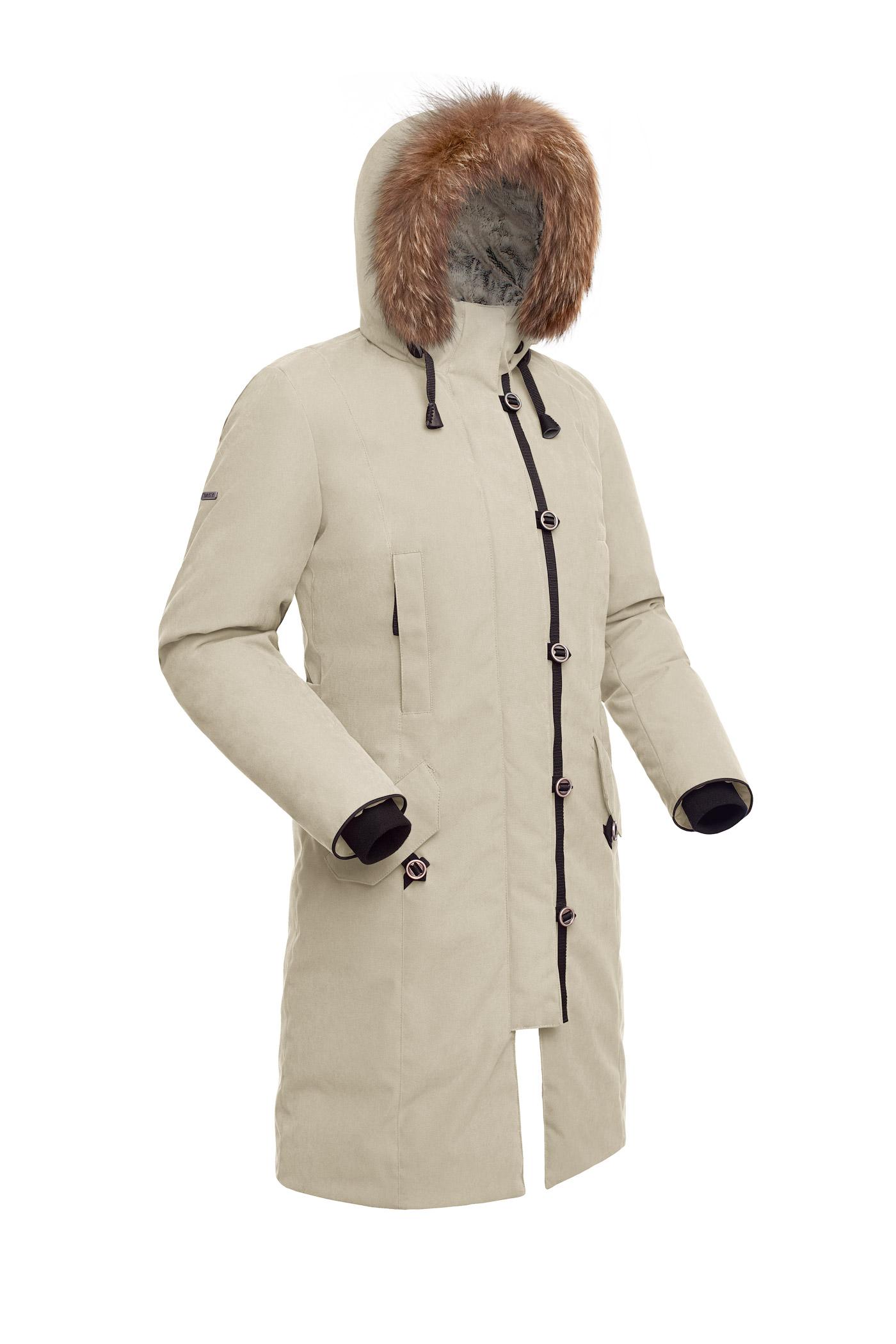 Пальто пуховое женское BASK HATANGA V2 бежевое, Пальто - арт. 971240409