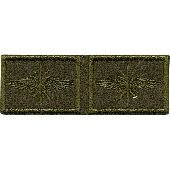 Эмблема петличная с липучкой Войска связи нового образца полевая пластик