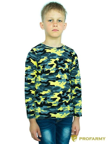 Купить Футболка детская Yellow Camo длинный рукав, PROFARMY