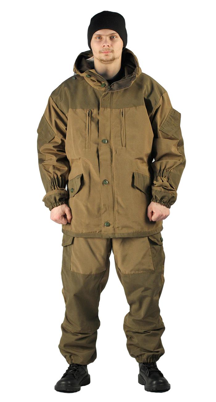 Купить Костюм демисезонный ГОРКА куртка/брюки, светлый хаки/темный хаки, ткань: полибрезент, Ursus