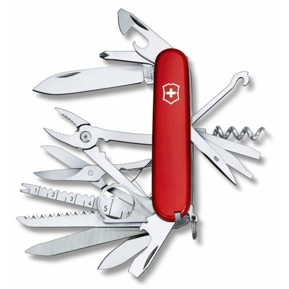 Нож перочинный Victorinox SwissChamp (1.6795) 91мм 33функций красный, Ножи - арт. 973630159