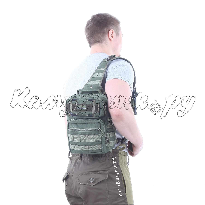 Рюкзак однолямочный Kiwidition Matangi 6,5 л 1000 den олива, Тактические рюкзаки - арт. 1013470264