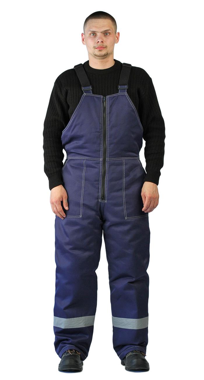 Полукомбинезон мужской УРАЛ зимний темно-синий с СОП, Зимние брюки и полукомбинезоны - арт. 1122770348