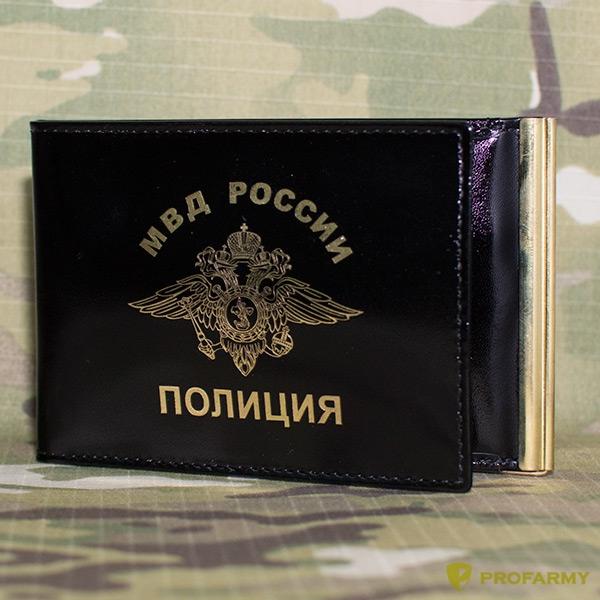 Обложка КУ-4 ш черная Полиция, Обложки - арт. 905770135