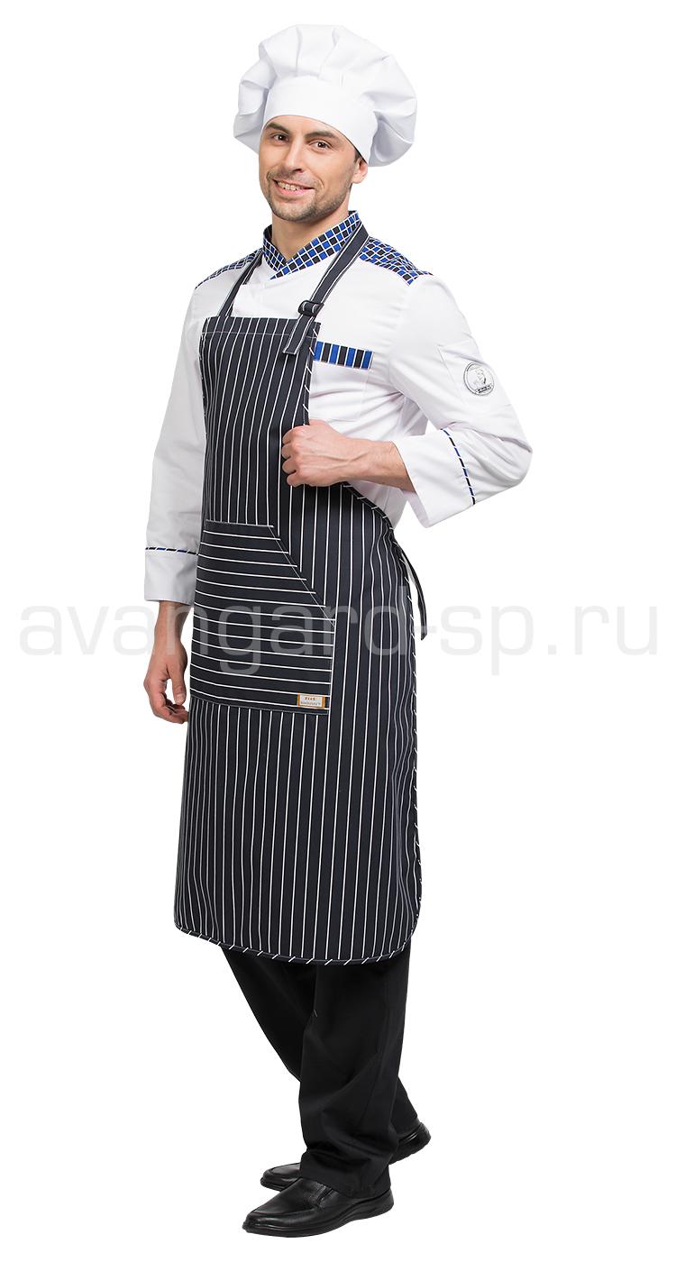 Фартук Мажестик цвет чер. с бел. пол.